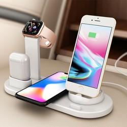 CỐC SẠC ĐA NĂNG - HỖ TRỢ SẠC KHÔNG DÂY SẠC NHANH 4 TRONG 1 [ Dành cho iPhone,AirPods,Micro USB,USB Type C]
