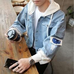 Áo khoác jean - áo khoác jean nam nữ - áo khoác jean Hàn Quốc&Oppa CHI23 - Mua Ngay