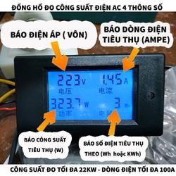Đồng hồ đo công suất điện AC -22KW -100A