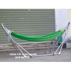 Giá Võng Xếp Inox- giá võng không bao gồm lưới