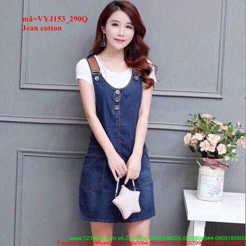 Váy yếm jean form suông dáng xinh dễ thương vyj153
