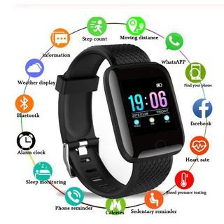 Đồng hồ thông minh Smart Watch 116 plus chống nước theo dõi vận động hỗ trợ theo dõi sức khỏe và định vị GPS - SP0012 thumbnail