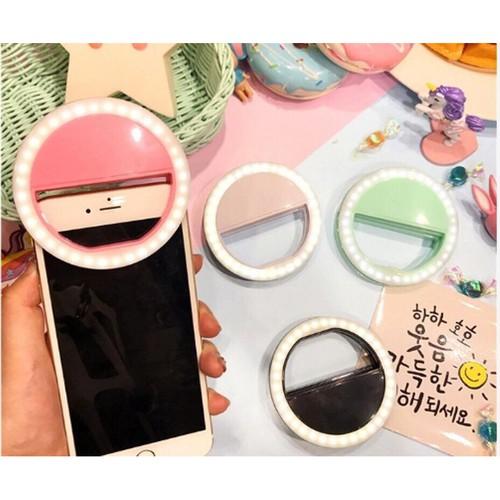 Đèn led kẹp điện thoại hỗ trợ chụp hình selfie pin sạc lưu ý 33k giá tại kho tổng chuyensibaic