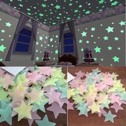 Ngôi sao dán tường dạ quang phát sáng dochoihay