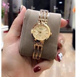Đồng hồ nữ Halei máy Nhật dây vàng kim loại