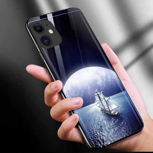 Ốp điện thoại kính cường lực cho máy iphone 11 - phong cảnh nét đẹp tự nhiên ms pcndtn013