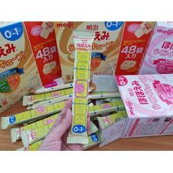 Combo 5 Thanh Sữa meiji số 0  Dạng thanh gói lẻ hàng nội địa nhật