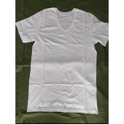 Áo lót trắng  nam cổ tim