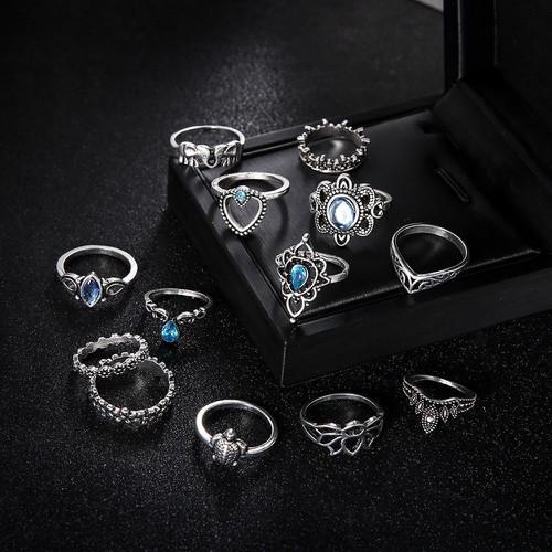 Bộ 13 chiếc nhẫn bạc hình vương miện vintage cho nữ mssp rd6205 - 18086958 , 22708691 , 15_22708691 , 63399 , Bo-13-chiec-nhan-bac-hinh-vuong-mien-vintage-cho-nu-mssp-rd6205-15_22708691 , sendo.vn , Bộ 13 chiếc nhẫn bạc hình vương miện vintage cho nữ mssp rd6205