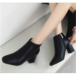 Giày boot nữ cổ thấp da mềm cao cấp hàng nhập khẩu