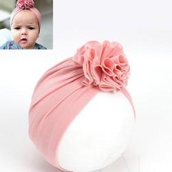 Nón turban cotton kết hoa cho bé