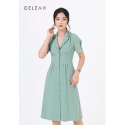 De Leah - Đầm Ôm A Xếp Li Eo - Thời Trang Thiết Kế