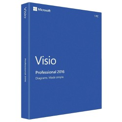 Microsoft Office Visio Professional 2016 Retail License 3264 Bit