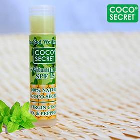 Son dưỡng môi dầu Dừa sáp ong Coco-Secret Bạc Hà - Dưỡng ẩm trị khô môi - Son