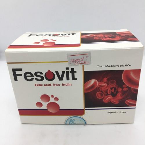 Fesovit hộp 60 viên - bổ sung sắt cho bà bầu - trẻ em - người thiếu máu do thiếu sắt - 18210795 , 23249396 , 15_23249396 , 90000 , Fesovit-hop-60-vien-bo-sung-sat-cho-ba-bau-tre-em-nguoi-thieu-mau-do-thieu-sat-15_23249396 , sendo.vn , Fesovit hộp 60 viên - bổ sung sắt cho bà bầu - trẻ em - người thiếu máu do thiếu sắt