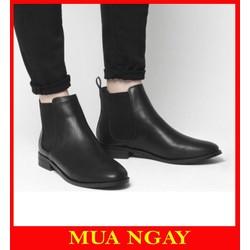 Giày Nam Chelsea Boots Tăng Chiều Cao Cổ Lửng