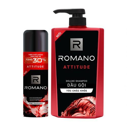Combo romano attitude xịt toàn thân lịch lãm ngăn mồ hôi mùi cơ thể 195ml và dầu gội cao cấp tóc chắc khỏe 650g - 21453081 , 24729019 , 15_24729019 , 230000 , Combo-romano-attitude-xit-toan-than-lich-lam-ngan-mo-hoi-mui-co-the-195ml-va-dau-goi-cao-cap-toc-chac-khoe-650g-15_24729019 , sendo.vn , Combo romano attitude xịt toàn thân lịch lãm ngăn mồ hôi mùi cơ thể