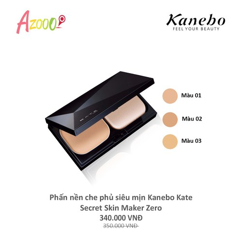 Chính hãng phấn nền che phủ siêu mịn kanebo kate secret skin maker zero