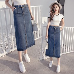 Chân váy jean dài xẻ 4CV2226  ĐƯỢC KIỂM TRA HÀNG TRƯỚC KHI NHẬN