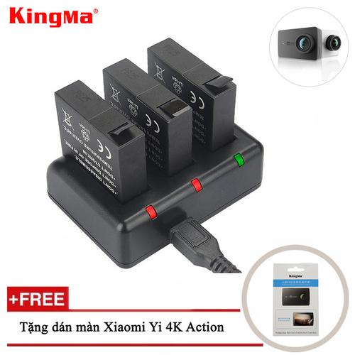 Combo sạc 3 + 3 viên pin kingma cho xiaomi yi 4k action camera - 20439242 , 23238505 , 15_23238505 , 460000 , Combo-sac-3-3-vien-pin-kingma-cho-xiaomi-yi-4k-action-camera-15_23238505 , sendo.vn , Combo sạc 3 + 3 viên pin kingma cho xiaomi yi 4k action camera