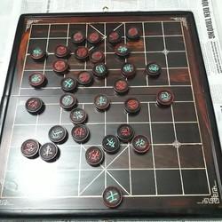 bộ bàn cờ tướng bằng gỗ trăc bàn và quân 3,8cm