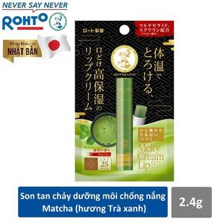 Son tan chảy dưỡng môi chống nắng Mentholatum Melty Cream Lip SPF25, PA+++ Matcha 2.4g [hương Trà xanh] - RMV-RJ-MCL-M thumbnail