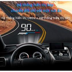 Thiết bị hiển thị tốc độ trên kính lái ô tô HUD FULL OPTION OBD2 Sky Life