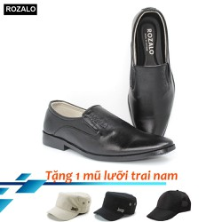 Giày tây nam công sở kiểu lười Rozalo R7015 + Tặng mũ lưỡi trai
