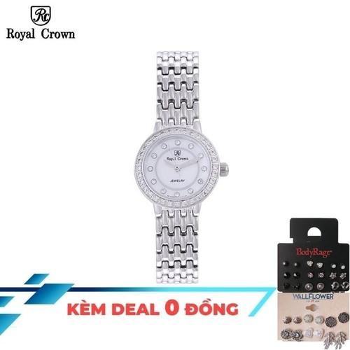 Đồng hồ nữ chính hãng royal crown 3650 dây thép + tặng kèm hoa tai, cài tóc - 20442406 , 23245168 , 15_23245168 , 2899000 , Dong-ho-nu-chinh-hang-royal-crown-3650-day-thep-tang-kem-hoa-tai-cai-toc-15_23245168 , sendo.vn , Đồng hồ nữ chính hãng royal crown 3650 dây thép + tặng kèm hoa tai, cài tóc