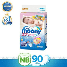 Tã quần và tã dán cao cấp Moony đủ size Nhập khẩu từ Nhật Bản - moony