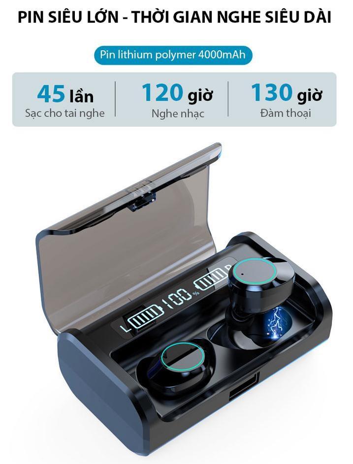 Tai nghe bluetooth nhét tai không dây 9D G06-TWS - Home and Garden - 4