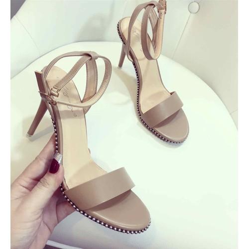 Giày sandal cao gót viền đinh sang chảnh - 20610120 , 23529703 , 15_23529703 , 235000 , Giay-sandal-cao-got-vien-dinh-sang-chanh-15_23529703 , sendo.vn , Giày sandal cao gót viền đinh sang chảnh
