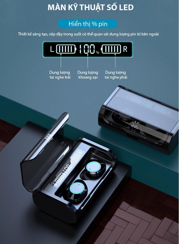 Tai nghe bluetooth nhét tai không dây 9D G06-TWS - Home and Garden - 3