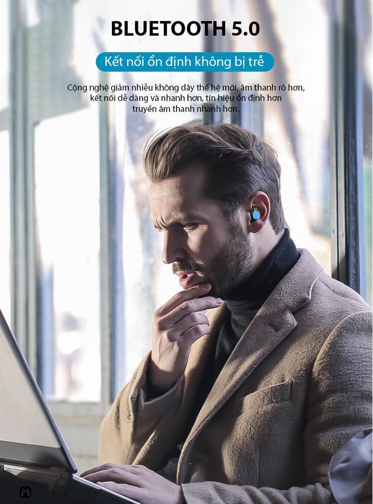 Tai nghe bluetooth nhét tai không dây 9D G06-TWS - Home and Garden - 6