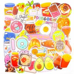 Set 100 sticker hình dán - Food and drink - Thực phẩm và thức ăn