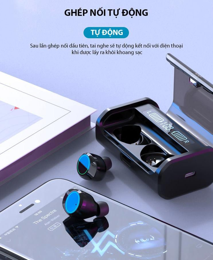 Tai nghe bluetooth nhét tai không dây 9D G06-TWS - Home and Garden - 5
