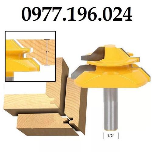 Mũi phay gỗ ghép góc vuông cho ván dày cốt 12ly7 - 19616550 , 23530343 , 15_23530343 , 265000 , Mui-phay-go-ghep-goc-vuong-cho-van-day-cot-12ly7-15_23530343 , sendo.vn , Mũi phay gỗ ghép góc vuông cho ván dày cốt 12ly7
