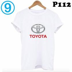 Áo thun trắng trơn in hình logo xe hơi trong BST áo phông nam nữ giá rẻ form HÀN QUỐC P112