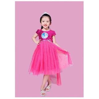 Đầm elsa bé gái cực xinh từ 17-31kg - đầm xinh bé gái -elsa -  kim sa kết hợp với vải lưới đính kim tuyến óng ánh.