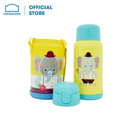 Bình giữ nhiệt Lock&Lock Cartoon Kids Vacuum Elephant 550ml
