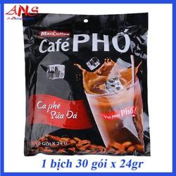 Combo 2 bịch cà phê Phố - 1 bịch 30 gói x 24gr