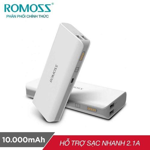 Pin sạc dự phòng 10.000mah romos sense 4 trắng đảm bảo chất lượng  siêu tốt không hài lòng có thể trả lại