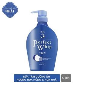 Sữa tắm dưỡng ẩm Senka Perfect Whip - Hương Hoa Hồng & Hoa Nhài 500ml - 4901872450480