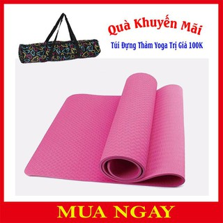 Thảm Tập Yoga TPE 1 Lớp Đúc 6mm + Tặng Kèm Túi Đựng TM1 - TM1 thumbnail