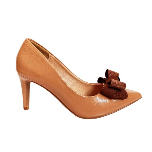 [Lấy lùi size, form to ][được kiểm hàng][002]giày cao gót 7cm sozini nơ satin sieu xinh
