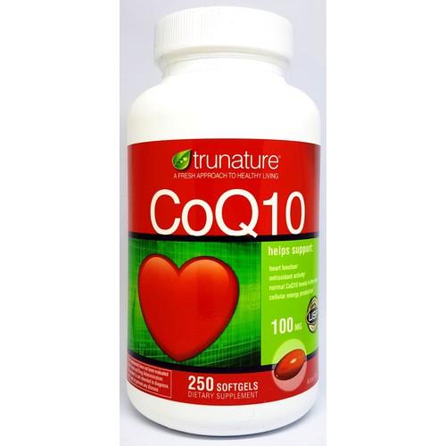 Viên bổ tim mạch trunature coq10 100mg chai 250 viên từ mỹ mẫu mới