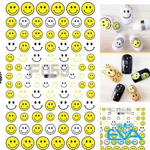 Miếng dán móng tay 3d nail sticker tráng trí hoạ tiết icon mặt cưới f059