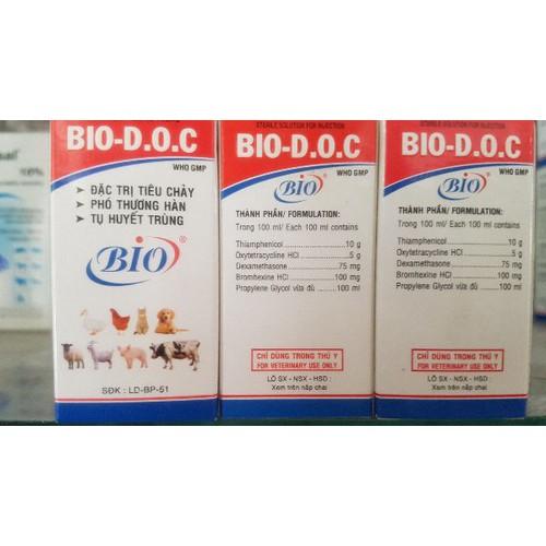 Bio d.o.c 20ml kháng sinh trị bỏ ăn bò dê chó