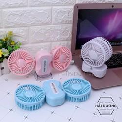 Quạt cầm tay mini Couple Fan sạc tích điện 3 cấp độ gió TN133 kèm chân để bàn Có Video Hàng Cao Cấp