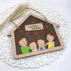 Biển gỗ trang trí HAPPY HOUSE